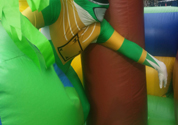 power ranger in obstacle course green