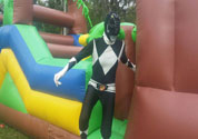 power ranger in obstacle course